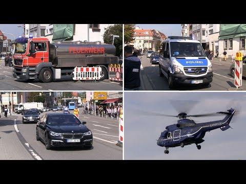 Bundeskanzlerin Angela Merkel auf Wahlkampftour in Heppenheim am 22.09.2017 - Einsatzfahrten