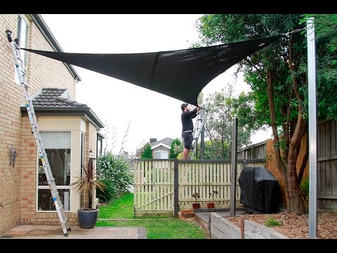 coolaroo shade sail installation mp4 doovi