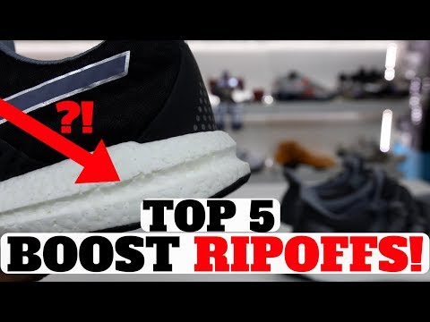 Top 5 ADIDAS BOOST Ripoffs From Other Brands!
