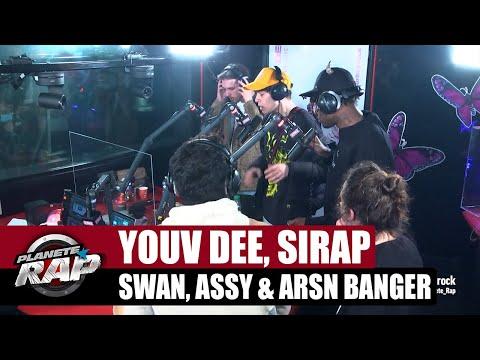 Youtube: Youv Dee – Session freestyle avec Sirap, Assy, Swan & Arsn Banger! #PlanèteRap