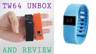 TW64 Smart Bracelet Health Tracker Smartband Bluetooth Fitness Tracker Review TW 64 like FitBit