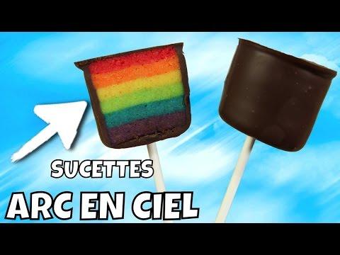 ♡• RECETTE SUCETTE ARC EN CIEL   RAINBOW POP CAKE •♡