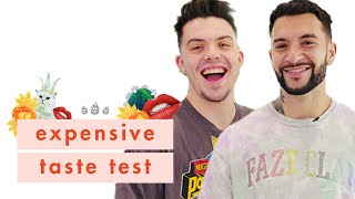 YouTubers FaZe Adapt & FaZe Temperrr Go Head-to-Head in Our Expensive Taste Test | Cosmopolitan