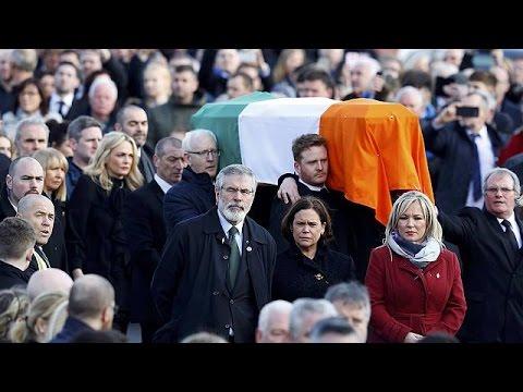 Northern Ireland: thousands attend Martin McGuinness funeral