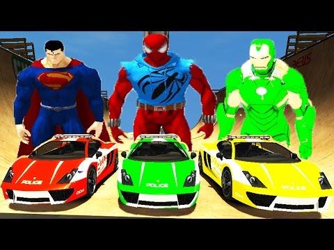 full download the avengers hulk spiderman iron man et captain america epic race avec voiture. Black Bedroom Furniture Sets. Home Design Ideas