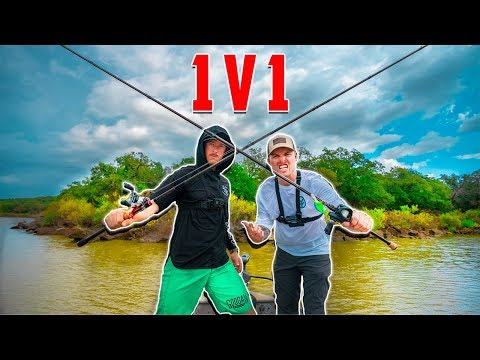 1v1 Fishing Tournament Of Champions - Lunkerstv VS Lakeforkguy