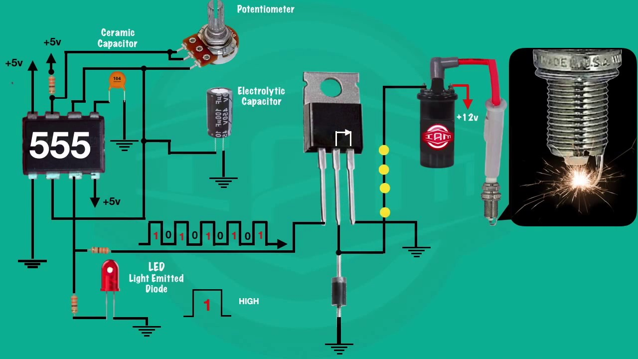 555 Timer Transistor And Ignition Coil