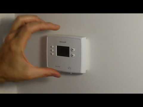 How to Change Batteries on Honeywell Thermostat RTH2300 RTH221