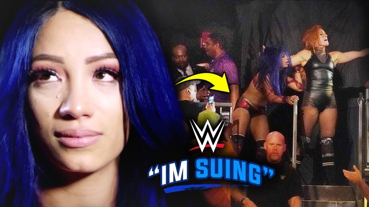 WWE Fans Receives LIFETIME BAN After Wrongfully Touching Sasha Banks At  Clash Of Champions - YouTube