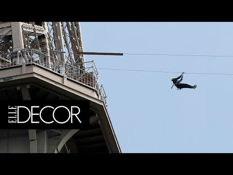 You Can Now Zip Line Off The Eiffel Tower! | ELLE Décor