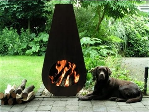 Metal Outdoor Fireplaces - YouTube