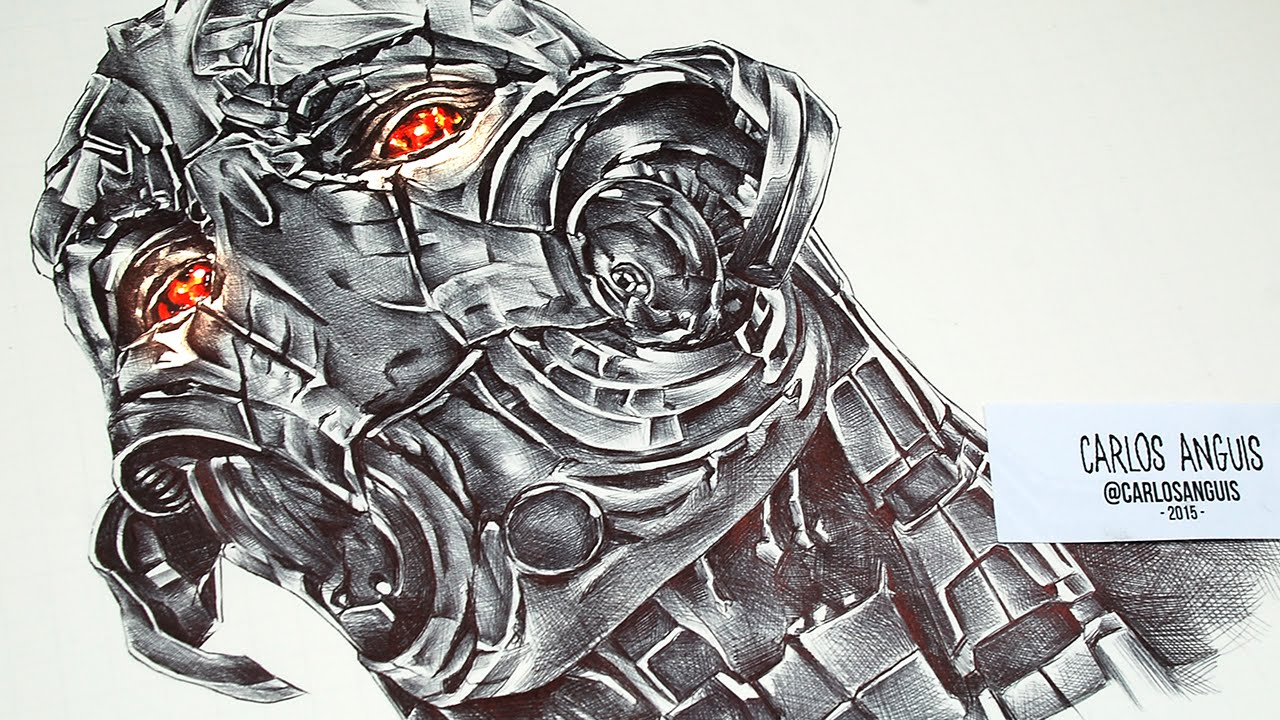 Avenger Age Of Ultron Sketch: Drawing Ultron Prime (from Avengers Age Of Ultron)