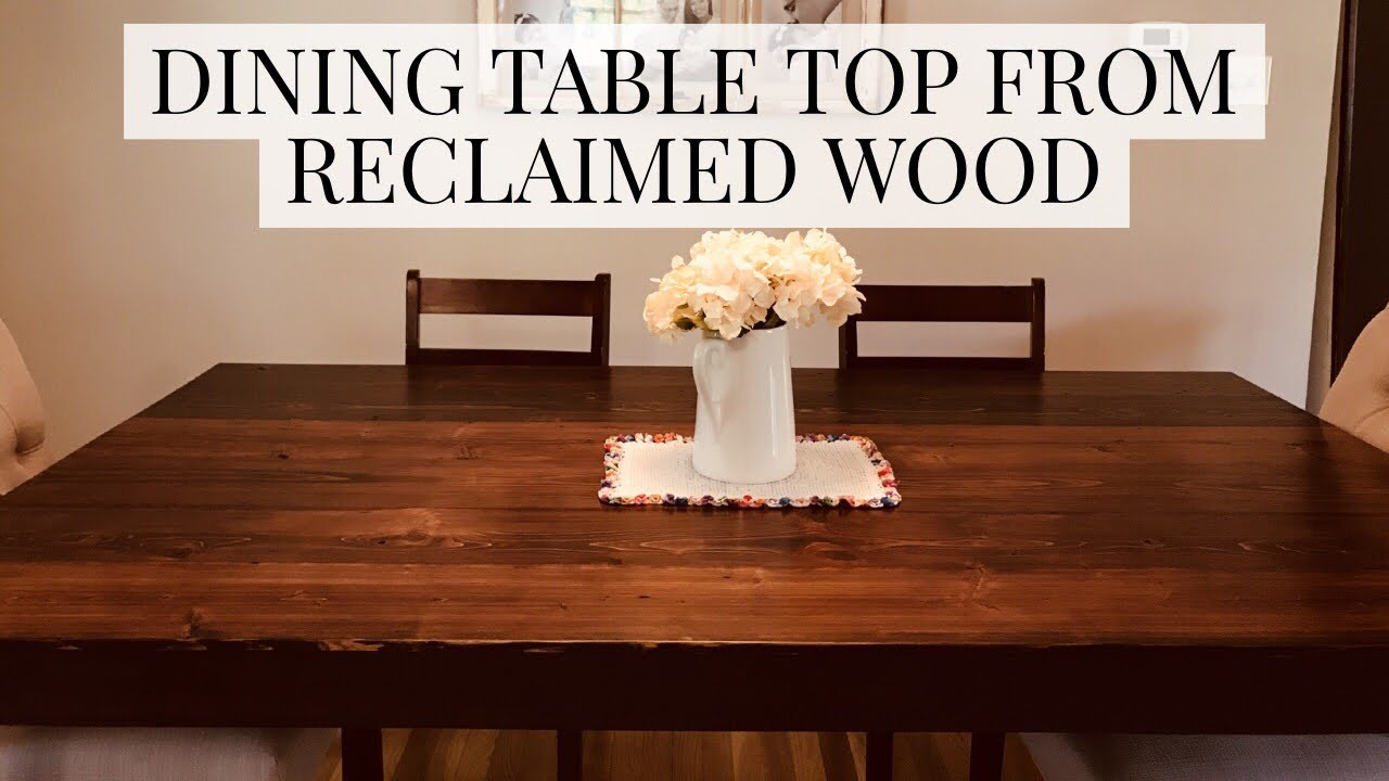 Reclaimed Cypress Dining Table Top Hybrid Hand Tool Power Tool Woodworking