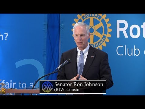 Milwaukee Rotary Club: U.S. Senator Ron Johnson