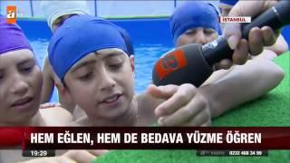 Belediyeden ücretsiz yüzme kursu - atv Ana Haber