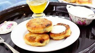 Сырники с изюмом — видео рецепт