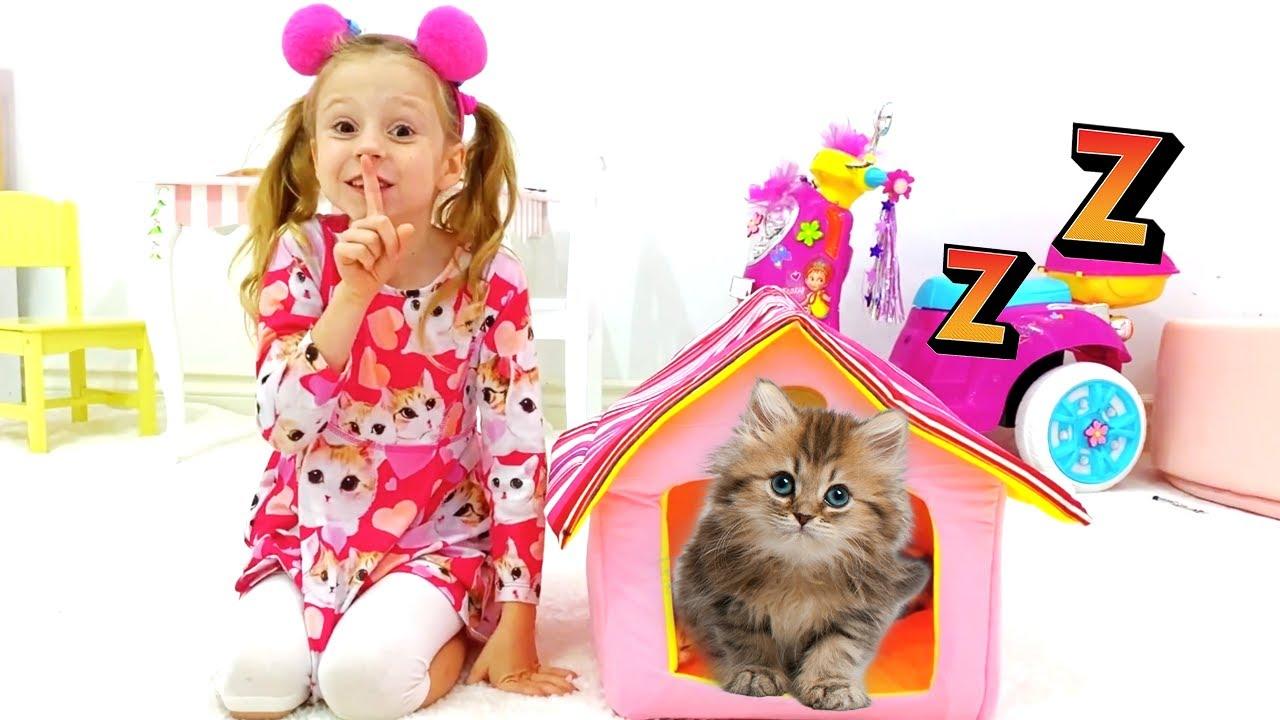 ناستيا تتعلم كيف تربي القطط الصغيرة
