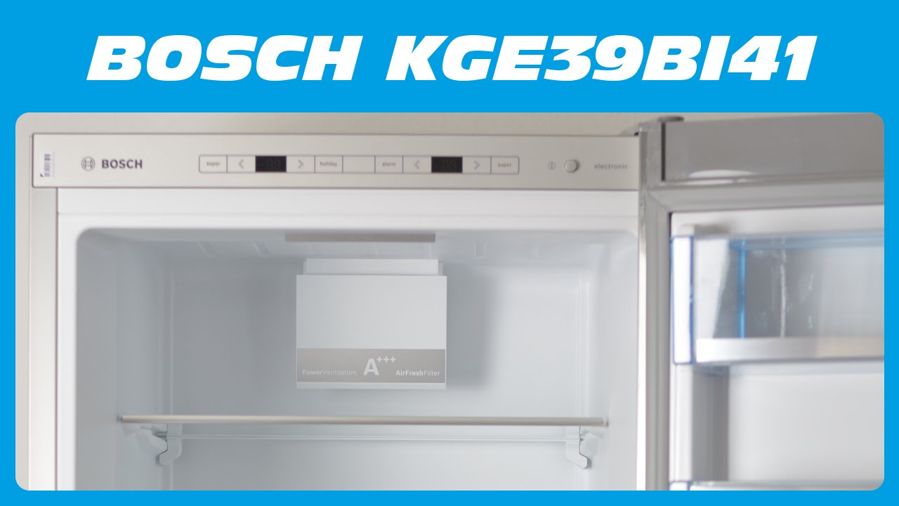 bosch kge39bi41 k hl gefrier kombi unboxing kurzreview. Black Bedroom Furniture Sets. Home Design Ideas