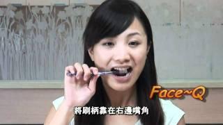 美女示範正確刷牙方法 - 貝氏刷牙法 - FaceQ - 致美牙醫診所