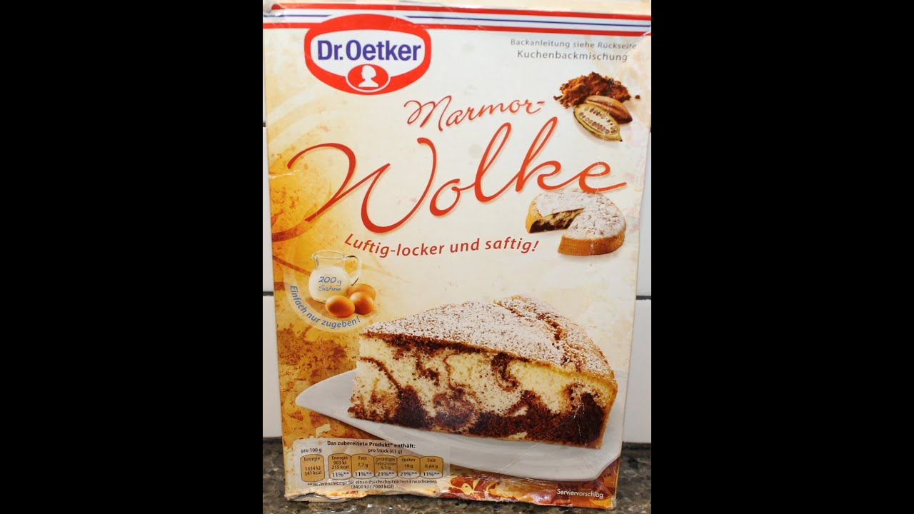 From Germany Dr Oetker Marmor Wolke Preparation Review Youtube