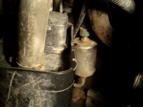 fuel filter removal on sunfire - YouTube