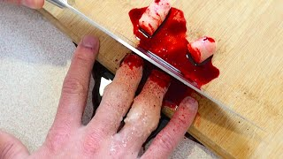 SLICED OFF FINGERS PRANK!!