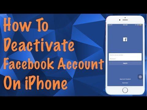 Deactivate facebook on iphone