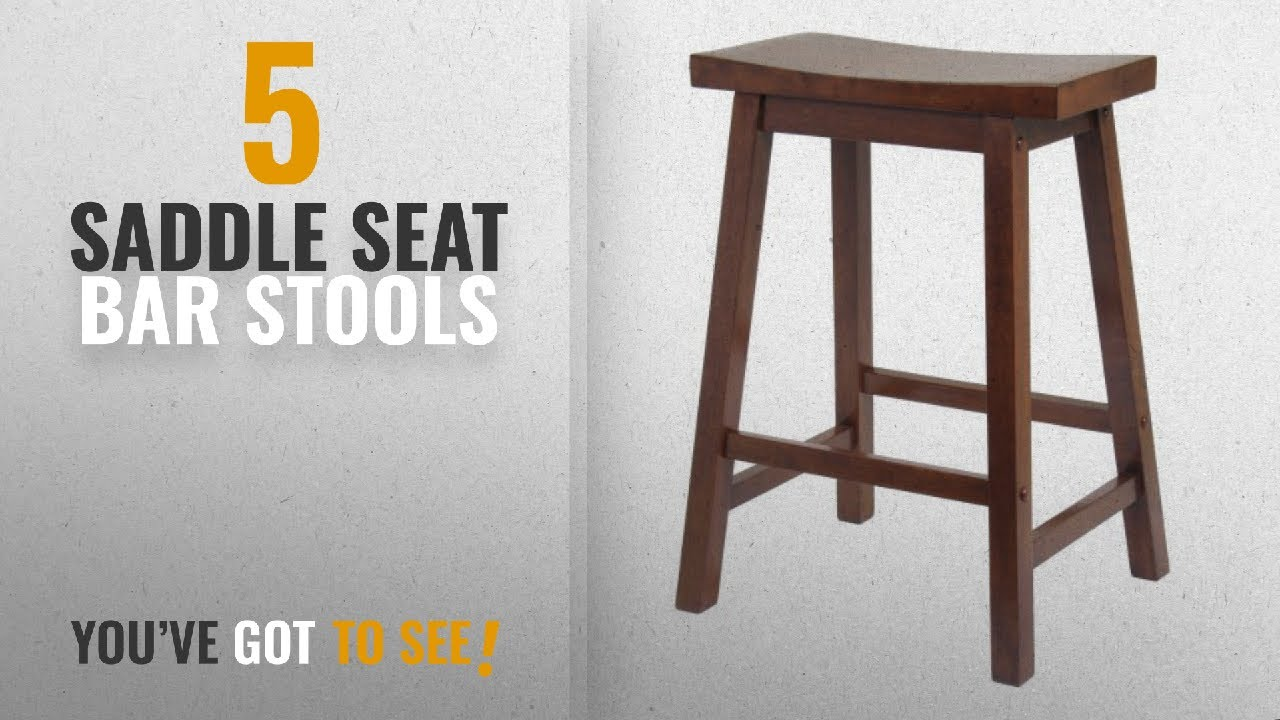 Top 10 Saddle Seat Bar Stools 2018 Winsome 24 Inch Counter Stool Walnut