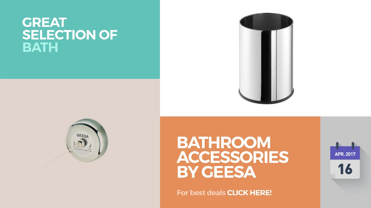 Geesa bathroom accessories - Bathroom Accessories By Geesa Great Selection Of Bath Products