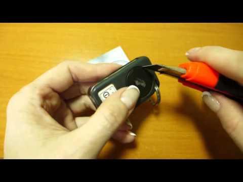 Замена батарейки в ключе ЛЕНД РОВЕР Рендж ровер Change the battery