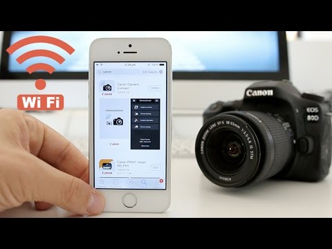 Canon 80D Tutorial - How to set up WiFi