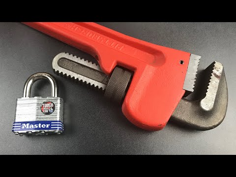 [672] Pipe Wrench vs. Master Lock No. 5