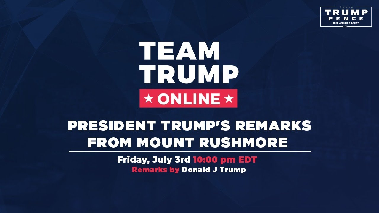 WATCH: President Trump's Remarks from Mount Rushmore!
