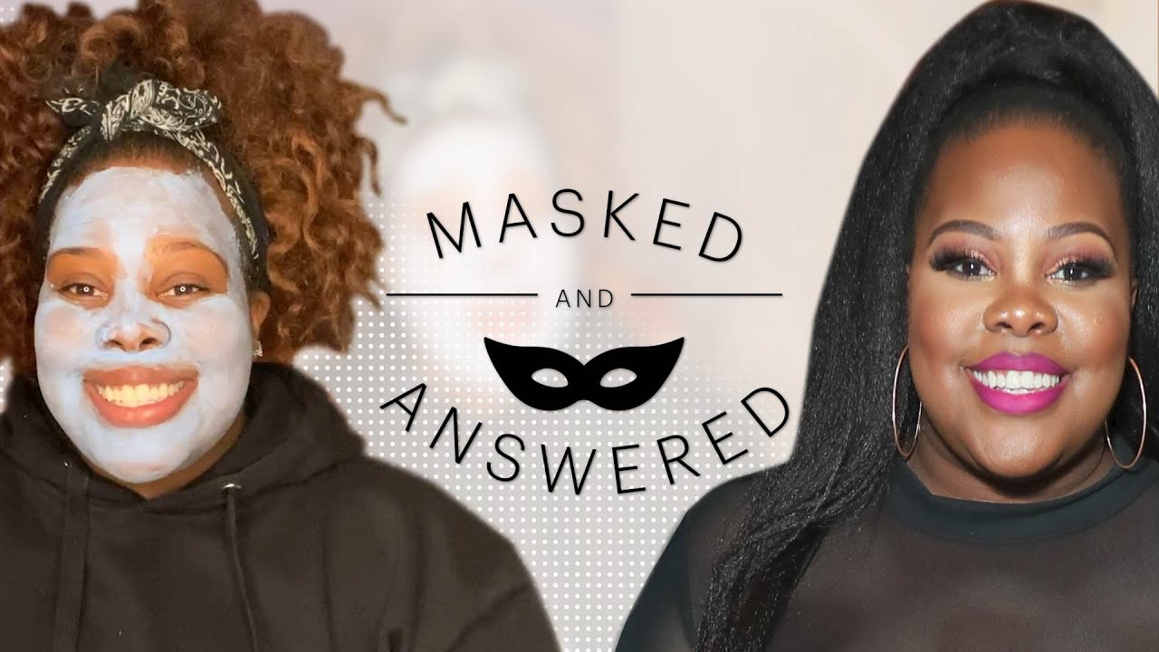 Amber Riley's Biggest Skincare Mistake Ruined a First Date | Masked and Answered | Marie Claire