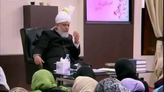 Gulshan-e-Waqfe Nau Nasirat 26 Feb 2011, Educational class with Hazrat Mirza Masroor Ahmad