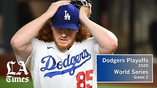Dodgers pitchers and bats don't show up, lose World Series Game 2