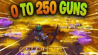 0 To 250 Gun Challenge Fortnite STW (Max Inventory)