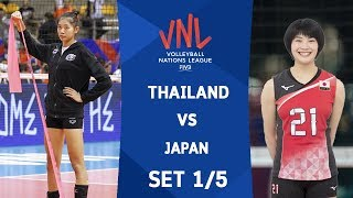 SET1 : THAILAND VS JAPAN | Volleyball Nations League 2018