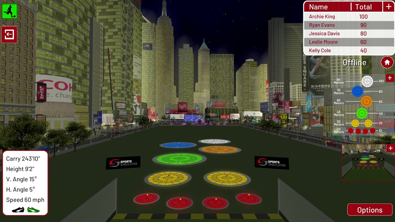Football Environment   New York   Night Targets
