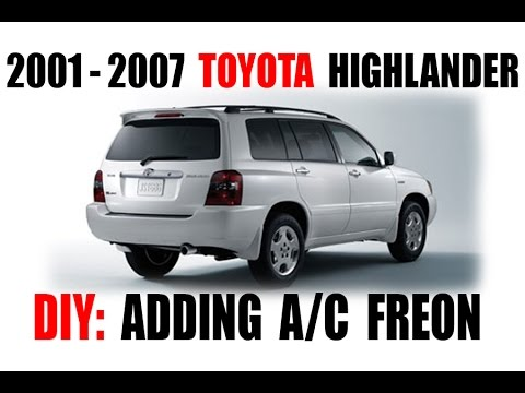 How To Toyota Highlander A C Freon R134 Checking