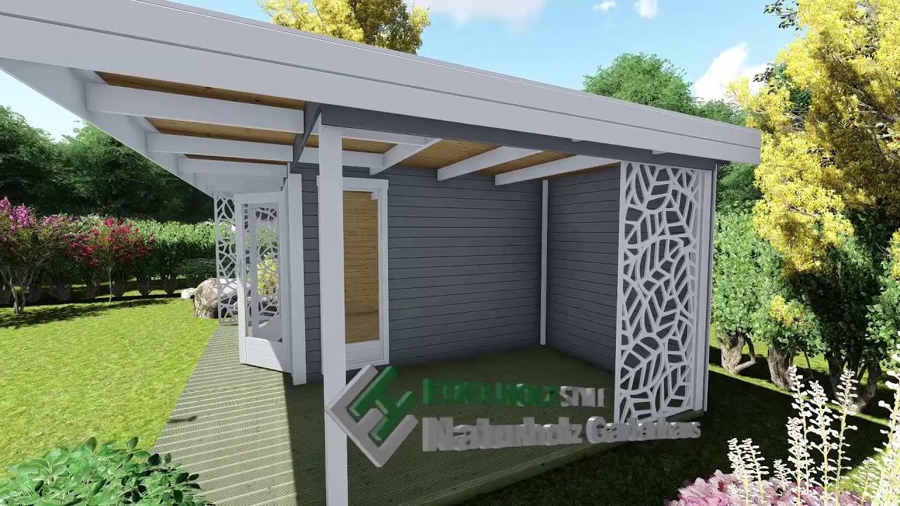 High Quality Gartenhaus Mit Flachdach   Holz Haus Mit Terrasse   28 Mm   Halle 28224  Model
