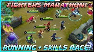 Fighter Running + Skills Race Tournament! | Mobile Legends Bang Bang | MLBB