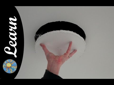 how to fix a hole in the ceiling video