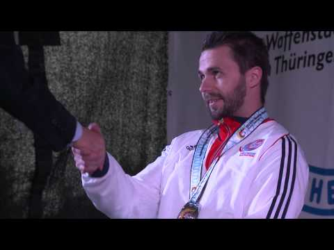 Medals Ceremony | R3 mixed 10m air rifle prone SH1 | 2014 IPC Shooting World Championships
