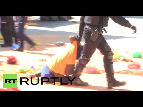 RAW: Spanish riot police beat Basque activists with batons