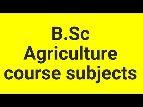 B.Sc Agriculture course subjects as per Tamil Nadu Agricultural University