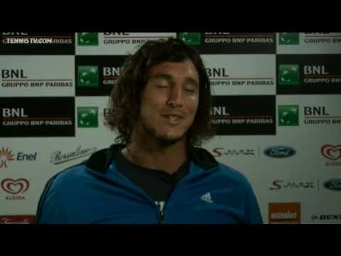 Juan Monaco Discusses First-Round Win Rome 2010