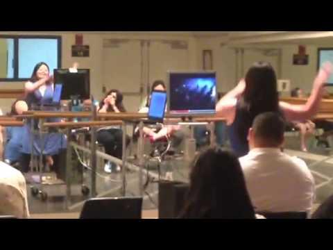EC Artist Practices Thriller Zombie Dance