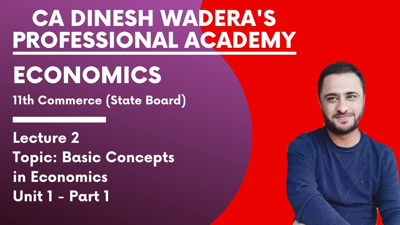 Economics (FYJC) 11th Commerce Maharashtra State Board 2020