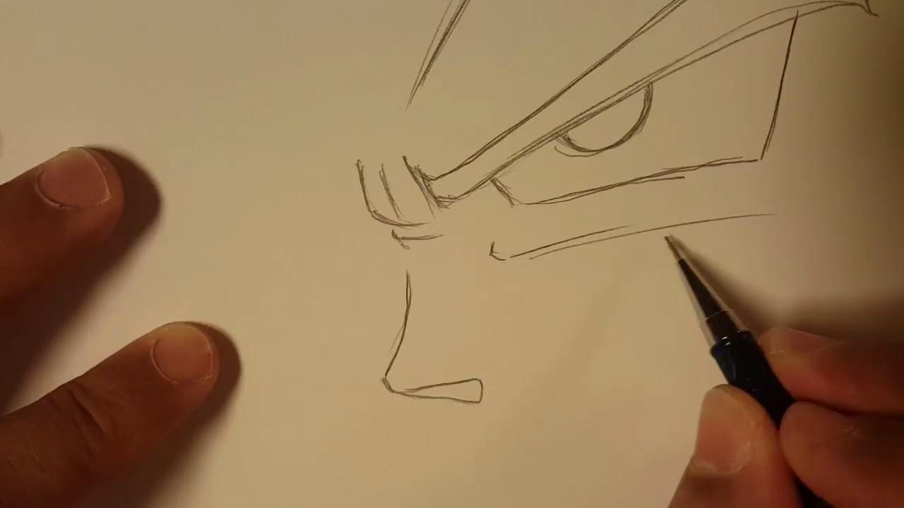 Comment Dessiner Goku Ssj Facilement Dbz Manga Drawing